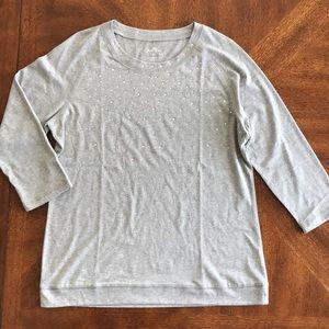 🎁Coral Bay sparkling 3/4 sweatshirt / blouse